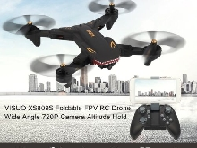 VISUO XS809S RC Drone Wide Angle 720P Camera Altitude Hold Foldable Quadcop FR