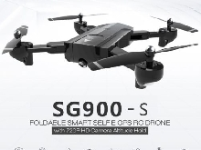 SG900-S RC Foldable Smart Selfie GPS Drone 720P HD Camera Altitude Hold SSL8