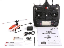 XK K110 6CH 3D 6G System Mini Brushless RC Helicopter Drone with Gyro RTF NS