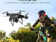LH-X25WF Selfie 720P Wide Angle Adjustable Camera FPV Foldable GPS RC Drone JY