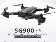 SG900-S RC Foldable Smart Selfie GPS Drone 720P HD Camera Altitude Hold QO