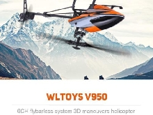 Drone WLtoys V950 2.4G 6CH 3D / 6G System Flybarless RC Helicopter RTF NEW RC