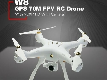 W8 RC Drone with 720P Camera 4CH GPS Quadrocopter Altitude Hold Wifi FPV Drone U