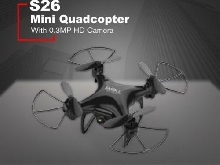 Mini RC Drone RC Quadcopter with 0.3MP HD Camera Gravity Sensor Aircraft S26 P#