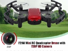 F21W Mini RC Quadcopter Drone with 720P HD Camera Altitude Hold Headless Mode P#