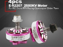 SUNNYSKY E-R2207 3-4S 2580KV Lightweight CCW/CW Brushless Motor for RC Drone AZ