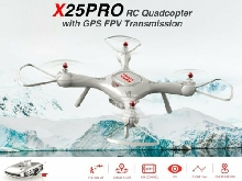 0Syma X25PRO RC FPV Quadcopter Drone 720P HD Wifi Adjustable Camera GPS MI