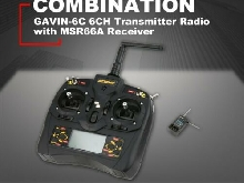 Detrum GAVIN-6C 2.4G 6CH Transmitter Radio with MSR66A Receiver for Drone ???