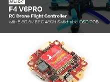 HGLRC F4 V6PRO RC Drone Flight Controller 5.8G 5V BEC 48CH Switchable OSD P ES