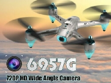 6957G 2.4G GPS 720P HD Wide Angle Camera FPV Drone RC Quadcopter Follow Me P#
