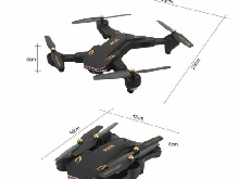 XS809S RC Drone with 0.3MP Wifi Camera Foldable Altitude Hold G-sensor Drone P#