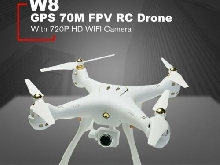 W8 RC Drone with 720P Camera 4CH GPS Quadrocopter Altitude Hold Wifi FPV Dro?U3&