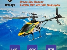 WLtoys V912 Drone Sky Dancer 2.4GHz RTF 4CH RC Helicopter With Head L MZ