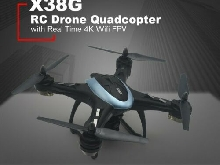 X38G Smart Selfie 4K Wide Angle Camera FPV GPS RC Drone Quadcopter Hover MZ