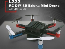 L333 RC DIY Building Block 3D Bricks Mini Drone Quadcopter with 3D Flips  MZ