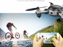 KY901 2.4GHz RC Quadcopter 4CH Foldable Mini Drone with 0.3MP Wifi Cam MZ