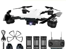 JDRC Drone RC avec Camera 2MP Grande Angle FPV RTF + Pack 3 Batteries