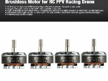 4pcs HGLRC Flame 2207 1775KV 5-6S Brushless Motor for RC FPV Racing Drone  We