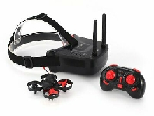 5.8G 40CH FPV Camera Mini RC Racing Drone Quadcopter with 3in Headset Goggles TY