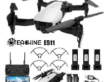 Eachine E511 Drone WIFI FPV RC + Caméra 2MP + 3 Batteries
