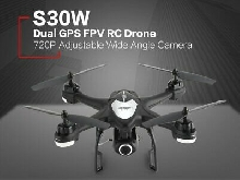 SJ R/C S30W 720P Adjustable Wide Angle Camera Dual GPS FPV RC Drone Hovering TY