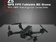 Z5 1080P Wide Angle Camera FPV Foldable GPS Gesture Selfie Follow RC Drone TY