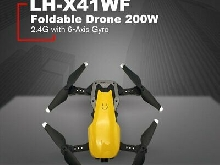 LH-X41WF RC Drone Quadcopter 200W 2.4G Wifi FPV Foldable 6-Axis Aircraft Plane J