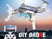 XG171 2.4G RC DIY Block 3D Bricks FPV Drone with Camera Altitude Hold 3D Flip TY