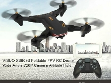 VISUO XS809S RC Drone Wide Angle 720P Camera Altitude Hold Foldable Quadcopter