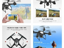 SJ R/C S30W 720P Adjustable Wide Angle Camera Dual GPS FPV RC Drone Hovering