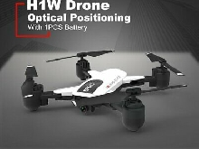 H1W RC Drone Quadcopter Wifi 1080P FPV Aircraft Foldable Optical Position DT
