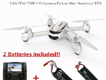 Hubsan FPV Drone GPS + Caméra 720P d'Altitude Follow Me High Edition Quadcopter
