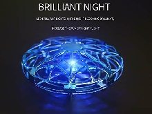 Mini UFO Drone Enfant Adulte Jouet LED Volant Quadcopter Drone Rotation360° bleu
