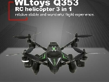 WLtoys Q353 3 in 1 Waterproof RC Quadcopter 2.4G Drone with Air Land Sea M LQ