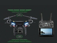 GW168 GPS RC Drone with 1080P Camera WiFi FPV Aircraft RC Helicopter 2 Batt LQ