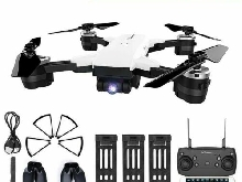 Drone 3 Batterie Camera 2MP Grande Angle Mode Sans Tête Quadcopte JDRC WIFI FPV
