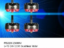 4pcs OCDAY RS2205 2300KV 3-4S CW CCW Moteur Brushless pour RC Racing Drone