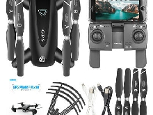 Drone x pro Quadricoptère RC repliable double caméra GPS WIFI FPV 1080P HD UP