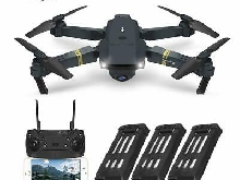 Drone Pliable caméra 720P HD FPV WiFi Drone avec Camera 2.0MP  3 Batteries