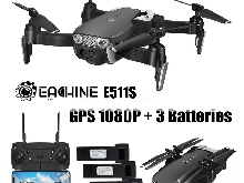 Eachine E511S GPS WIFI FPV RC Drone 5G 1080P Camera 1-3 Batteries 16 min Vol