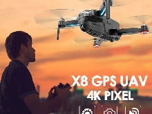 CSJ-X8 Brushless Drone with Camera 4K Drone 5G WIFI GPS MV Interface G4W8