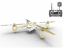 Hubsan H501S X4 Brushless Drone GPS 1080P Caméra (H501s Blanc Pro+batterie)