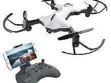 ATOYX AT-146 Drone 720P FPV WiFi Quadcopter Foldable avec Caméra HD R (Blanc)