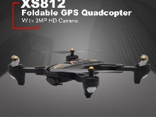 XS812 Foldable GPS Quadcopter RC Drone with 2MP HD Camera WiFi+GPS Aircr FR