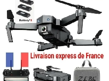 Drone 4K WIFI SG107 Camera 12Mp x50 zoom liv rapide 6 axes 2.4 ghz 3 BATTERIES