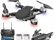 0BEST Drone avec Camera 1080P 4K Pixels Quadrotor de Vol Portable de 20-24 Mi...
