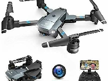 SNAPTAIN A15 Drone Pliable avec Caméra HD 720P 120° Grand Angle WiFi FPV