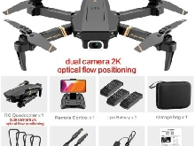 V4 Rc Drone 4k HD 1080P Wide Angle Dual Camera Real-Time Quadcopter  WiFi fpv