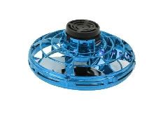 Mini RC Drone UFO Sensor Gyro Toy LED Fingertip Flying Spinner Toy (Blue)