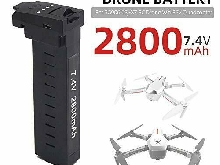 YUNIQUE FRANCE 1 Piece Batterie de Drone modulaire Lipo Battery 7.4V 2800mAh